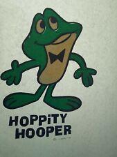 Vintage 1970s hoppity Hooper frog  iron on t shirt transfer nos TV shows toys