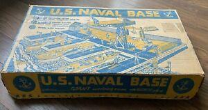 Vintage 1950S U.S. NAVAL BASE PLAYSET NO. 888 BY T. COHN w/ORIGINAL BOX