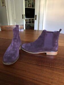 Clarks Clarkdale Gobi Chelsea Boot, Burgundy Suede, Men's Size 10 M New