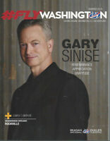 GARY SINISE 2019 Washington Flyer magazine TRAVEL: Egypt - Barcelona - Brussels