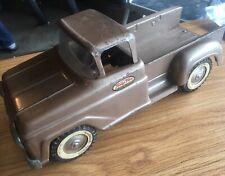 Vintage Tonka Stepside Pickup Truck Brown Bronze Gold Metal Used