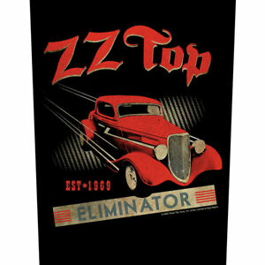 """ZZ TOP - """"ELIMINATOR"""" - LARGE SIZE SEW ON BACK PATCH - LICENSED PRODUCT"""