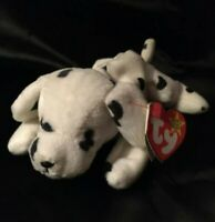 *RARE* Ty Beanie Baby SPARKY Style 4100, DOB 2-27-96, NO Red Star on tush tag