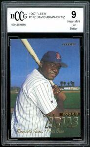 1997 Fleer #512 David Ortiz Rookie Card BGS BCCG 9 Near Mint+