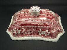 Spode Copeland Pink Tower lid for Vegetable dish Older Oval Backstamp antique