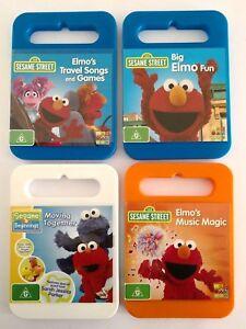 ABC Kids Sesame Street Elmo TV DVD Set of 4 Collection Bundle Bulk Lot Kids AUS