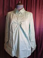 New A.N.A. Green Blouse Shirt Top Women M NWT Closet227*