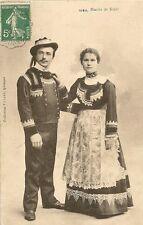 CARTE POSTALE MARIES DE SCAER FOLKLORE COSTUME