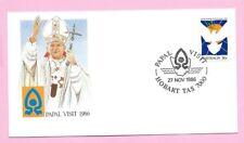 AUSTRALIA 1986 Souvenir Cover POPE JOHN PAUL II - PAPAL VISIT - HOBART, TAS