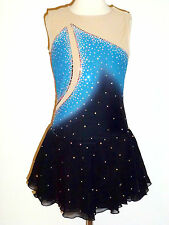 BRAND NEW Beautiful Figure Skating Dress Ladies X-Small w/CRYSTALS