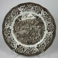 "J & G Meakin STRATFORD STAGE BROWN 7"" Pie Dessert Plate (s) Royal Staffordshire"