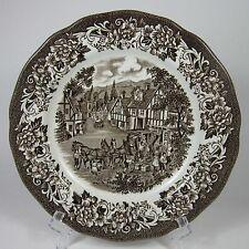 """J & G Meakin STRATFORD STAGE BROWN 7"""" Pie Dessert Plate (s) Royal Staffordshire"""