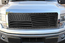 Custom Steel Grille AMERICAN FLAG WAVE for 2009-12 Ford F-150 LARIAT KING RANCH