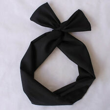 50's BUNNY EARS RIBBON TIE BOW BENDY WIRE / WIRED HAIR SCARF HEAD WRAP BAND 2017