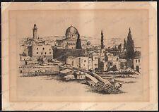 Jacob Eisenberg-Gerusalemme-MATITA FIRMATO - 1897-1966 - hand signed etching - 2