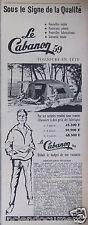PUBLICITÉ 1959 CABANON DES TENTES A ARMATURE SOUS LE SIGNE QUALITÉ - ADVERTISING