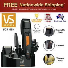 Mens Cordless Beard Hair Clipper Grooming Kit Electric Shaver Trimmer Shaving
