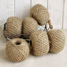 30m 2 Ply Natural Jute Hessian Burlap Thread String Yarn Hemp Butcher Twine