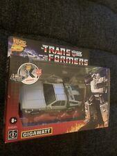 Transformers Back to the Future Gigawatt Delorean  BRAND NEW FACTORY SEALED