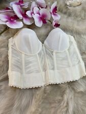 Le DONNE DI PIERA ivory padded underwired Corset bustier size  Us34b  Eu75b It2b
