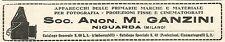 Y2683 Apparecchi Fotografici - Ganzini - Pubblicità del 1922 - Old advertising