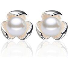 Perlen Ohrringe / Ohrstecker 925 Silber Ohrschmuck Stecker Perle