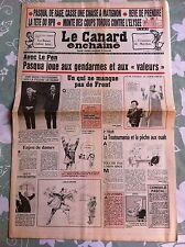 Le Canard Enchainé 4/05/1988; Avec Le PEn, Pasqua joue aux gendarmes
