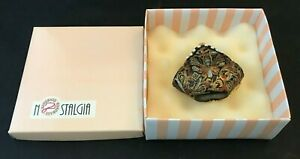 Nostalgia Handbag Miniature Decorative Purse Ceramic Collectible NIB