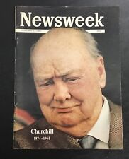 Newsweek February 1, 1965  Winston Churchill 1874-1965 NEWSSTAND MAGAZINE NL VTG