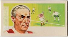 English Footballer Sir Stanley Matthews Soccer Vintage Trade Ad Card