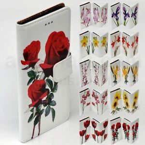 For LG Series Mobile Phone - Flower Print Theme Wallet Phone Case Cover #2