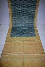 Vintage Florel Pure Tussar Silk Saree Traditional Embroidered Sari Wedding Wear