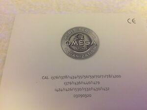 Omega Operating Instruction Booklet. 1998, Rare!