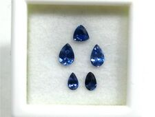 5 Faceted Benitoite Gemstones, All loupe clean, VVS, .72 tcw, #bset72