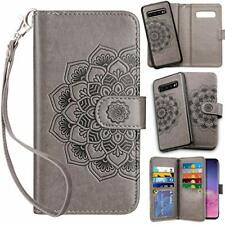 Leather Folio Samsung Galaxy S10 Case Wallet Card Holder Pocket Flip Cover