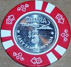 Old $5 SAHARA Casino Poker Chip Vintage Antique Diesuits Mold Lake Tahoe NV 1980