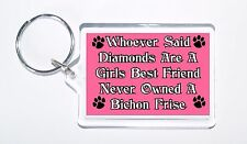 Whoever Said Diamonds Girls Best Friend Never Owned a Bichon Frise Keyring, Gift