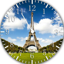 """Eiffel Tower wall Clock 10"""" will be nice Gift and Room wall Decor W03"""