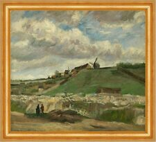 The Hill of Montmartre with Stone Quarry VINCENT VAN GOGH FRANCE B a3 03357