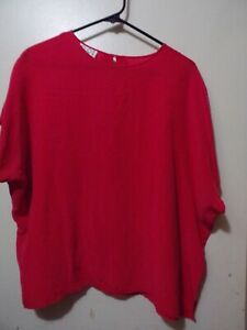 Vintage Clio II Woman Long Sleeve Shirt Top 2X Pink Faux Suede