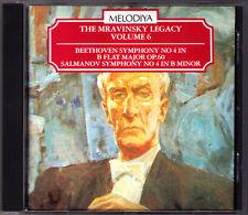 Evgeny MRAVINSKY: BEETHOVEN Symphony No.4 SALMANOV Sinfonie Nr.4 MELODIYA CD