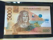 2021 PHILIPPINES 5000 Peso 500th LapuLapu Commemorative Banknote 100% Authentic