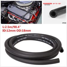 "2.5m/98.4"" ID12mm Rubber Braided Fuel Hose /Engine Petrol Gas Oil Line Fuel Pipe"