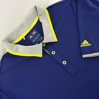 Mens Adidas Climacool Navy Blue Golf Polo Shirt Size XL Performance Perforated