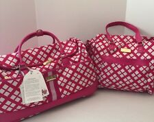 """Jessica Simpson 2pc Set Country Club 22"""" Wheeled Duffel & Tote Carry On NWT"""