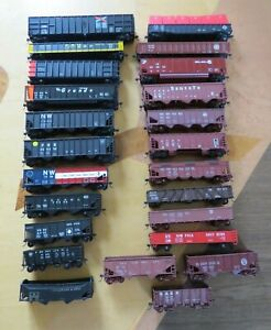 Vintage Lot of 24 Hopper & Gondola Train Cars ~ HO Scale