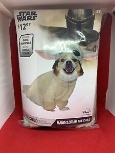 Disney Star Wars The Mandalorian Baby Yoda Pets Puppy Dog Costume  Sz Large
