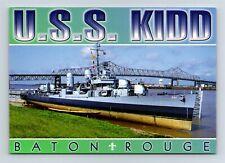 Postcard LA Baton Rouge Louisiana WW2 Navy Ship USS Kidd DD-661 Destroyer AJ2
