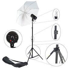 Kit Éclairage Barebulb Lampe Studio Photo KIT 100W Flash Parapluie Trépied Sac