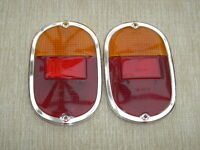 VW Split window bus early Bay 63-71 Tail rear light Lenses Amber red PAIR camper